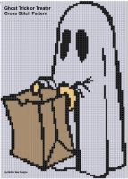 Cover for 'Ghost Trick or Treater Cross Stitch Pattern'