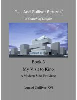 "Cover for '""And Gulliver Returns"" Book 3 A Visit to Kino'"