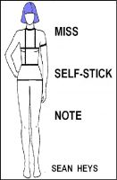 Cover for 'Miss Self-Stick Note'