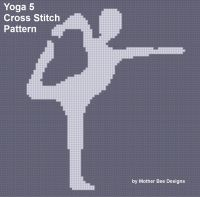 Cover for 'Yoga 5 Cross Stitch Pattern'