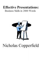 Cover for 'Effective Presentations: Business Skills in 2000 Words'