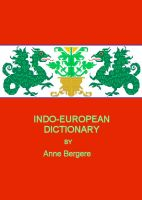Cover for 'Indo-European Dictionary'