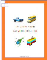 Cover for 'Easy Learning Pictures. Das Verkehrsmittel'