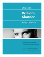 Cover for 'Ultra-Actors: William Shatner'