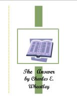 Cover for 'The Answer'