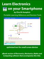 Cover for 'Learn Electronics on your Smartphone'