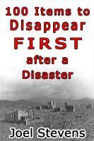 Cover for '100 Items to Disappear First After A Disaster'