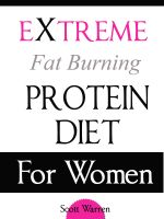 Cover for 'The Extreme Fat Burning Protein Diet For Women'