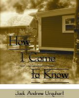 Cover for 'How I Come to Know'