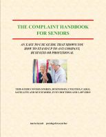 Cover for 'The Complaint Handbook for Seniors'