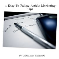 Cover for '3 Easy To Follow Article Marketing Tips'