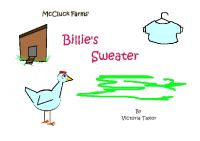 Cover for 'Billie's Sweater'