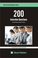 Cover for '200 Interview Questions You'll Most Likely Be Asked'