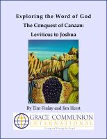 Cover for 'Exploring the Word of God The Conquest of Canaan: Leviticus to Joshua'