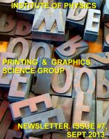 Cover for 'Issue 7 Printing and Graphics Science Group Newsletter'
