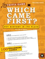 Cover for 'Which Came First? Trivia Game (Volume 4)'