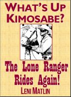 Cover for 'What's Up Kimosabe? The Lone Ranger Rides Again!'