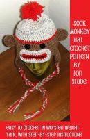 Cover for 'Sock Monkey Hat Crochet Pattern for Adults and Teens'