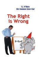 Cover for 'The Right is Wrong'