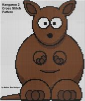 Cover for 'Kangaroo 2 Cross Stitch Pattern'
