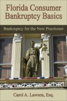 Cover for 'Florida Consumer Bankruptcy Basics,  Bankruptcy for the New  Practitioner'