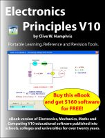 Cover for 'Electronics Principles V10'