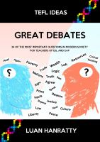 Cover for 'Great Debates - 24 of the Most Important Questions in Modern Society for Teachers of ESL and EAP'