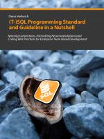 Cover for '(T-)SQL Programming Standard and Guideline in a Nutshell'