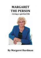 Cover for 'Margaret the Person - Living a Spirited Life'