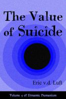 Cover for 'The Value of Suicide'