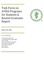 Cover for 'Task Force on AVMA Programs for Students & Recent Graduates Report'