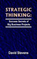 Cover for 'Strategic Thinking: success secrets of big business projects'