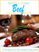 Cover for 'The Absolute Best Beef Recipes Cookbook'