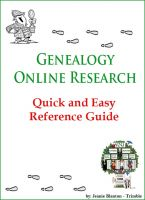 Cover for 'Genealogy Online Research Quick and Easy Reference Guide'