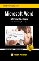 Cover for 'Microsoft Word Interview Questions You'll Most Likely Be Asked'