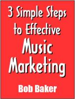 Cover for '3 Simple Steps to Effective Music Marketing (TheBuzzFactor.com Presents)'