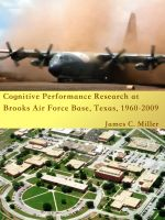 Cover for 'Cognitive Performance Research at Brooks Air Force Base, Texas, 1960-2009'