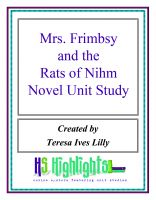 Cover for 'Mrs. Frimbsy and the Rats of Nihm Novel Unit Study'