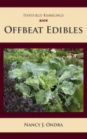 Cover for 'Offbeat Edibles'