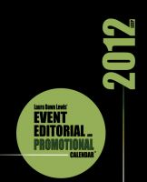 Cover for '2012 Event, Editorial & Promotional Calendar'