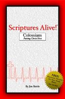 Cover for 'Scriptures Alive! - Colossians'