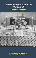 Cover for 'Solarz Banquet Cloth 161 Tablecloth Vintage Crochet Pattern eBook'