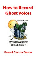 Cover for 'How to Record Ghost Voices'