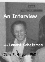 Cover for 'An Interview with Leonard Schatzman'