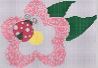 Cover for 'Lady Bug Flower Cross Stitch Pattern'