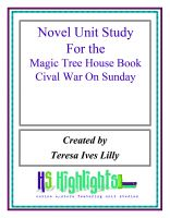 Cover for 'Novel Unit Study for the Magic Tree House Book Civil War On Sunday'