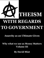 Cover for 'Atheism with Regards to Government'