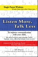 Cover for 'Listen More, Talk Less'