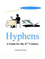 Cover for 'Hyphens: A Guide for the 21st Century'