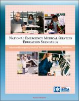 Cover for 'National Emergency Medical Services Education Standards - Advanced Emergency Medical Technician Instructional Guidelines'